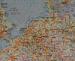 Eastern Docklands Amsterdam - map of northwest Europe