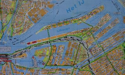 Eastern Docklands Amsterdam - map of Eastern Docklands