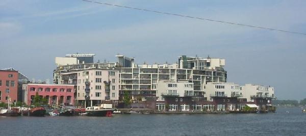 Eastern Docklands Amsterdam - view at KNSM island